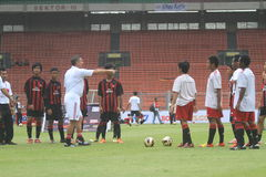 Italy and AC Milan Legend Daniele Massaro Stock Image