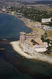 Italy, aerial view of the tirrenian coast Royalty Free Stock Image