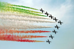Italy aerobatic squadron Royalty Free Stock Photography