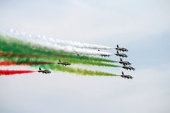 Italy aerobatic squadron Royalty Free Stock Photos