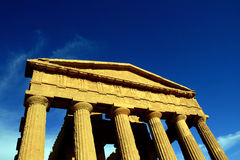 Italy - Agrigento's temple on blue sky Royalty Free Stock Photography