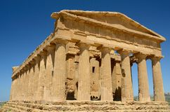 Italy - Agrigento: Temple of Concordia. The most famous Greek temple in the Valley of the Temples in Agrigento Royalty Free Stock Image