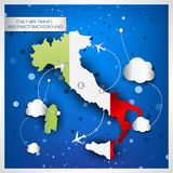 Italy air travel abstract background Stock Photography