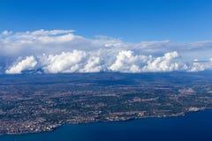 Italy airplane view Stock Photos
