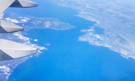Italy airplane view Royalty Free Stock Photography
