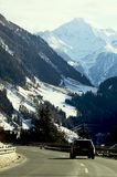 Italy, winter mountain road Royalty Free Stock Photos