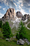 Italy Alps. Sunset over Dolomite peaks, Rosengarten,Val di Fassa, Italy Alps Stock Photo