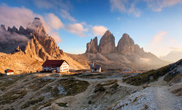 Italy Alps moutnain - Tre Cime di Lavaredo Stock Photos