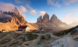 Italy Alps moutnain - Tre Cime di Lavaredo.  Stock Photos