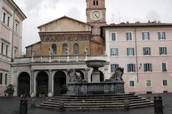 Italy is also a small square with a fountain Stock Images