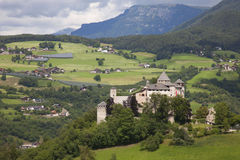 Italy,Alto Adige, Fiè am Sciliar, Presule castle. Italy,Alto Adige, Fiè am Sciliar village, the Presule castle royalty free stock images