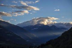 Italy, Alto Adige, Naturno village. Italy, Alto Adige, Naturno, the village and mountain stock images