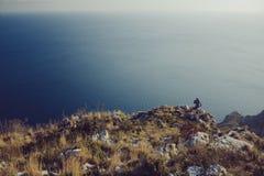 Italy Amalfi Sea Rocks Stock Image