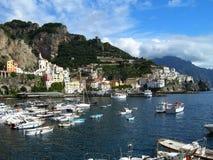 Italy - Amalfi. Amalfi - View of the port and coast Royalty Free Stock Photography