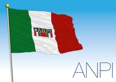 Italy, Anpi flag, historical association Royalty Free Stock Photos