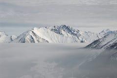 Italy. Aosta. Foggy lake over Valley Aosta Royalty Free Stock Photos