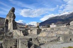 Italy, Aosta, ruins of Roman theatre Stock Image