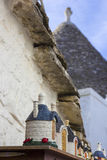 Italy, Apulia, Alberobello, trulli, typical houses. Souvenirs Stock Images