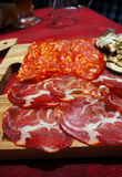 Italy, area Calabria,  meat Royalty Free Stock Image