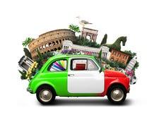 Italy. Attractions  and retro italian car Stock Image