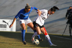 Italy - Austria, female soccer U19; friendly match Stock Photos