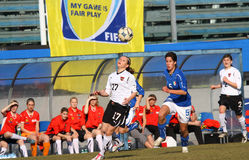 Italy - Austria, female soccer U19; friendly match Royalty Free Stock Photos