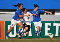 Italy - Austria, female soccer U19; friendly match Royalty Free Stock Photo