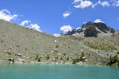 Italy (Ayas Valley) Lago Blu Stock Image