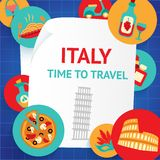 Italy background template Stock Photography