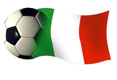 Italy ball flag. World cup illustration italian flag royalty free illustration
