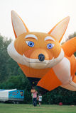Italy, Ballons Festival 2016. Ferrara. September 2016 Balloon Festival. Ferrara, Italy. Two fox-shaped balloons Stock Photography