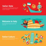 Italy banner set Royalty Free Stock Photos