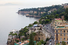 Italy. A bay of Naples. Foggy morning Stock Photos
