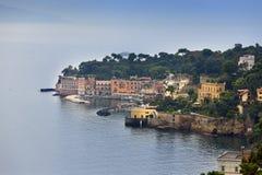 Italy. A bay of Naples. Foggy morning Royalty Free Stock Photos
