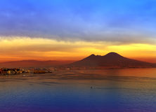 Italy. A bay of Naples.Landscape Royalty Free Stock Image