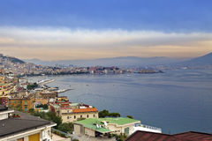 Italy. A bay of Naples. View of the city on top Royalty Free Stock Images