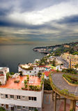Italy. A bay of Naples. View of the city on top.City landscape Royalty Free Stock Photo