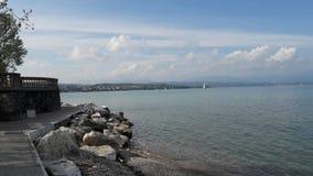 Lake garda. In Italy beach part of Lagos garda Royalty Free Stock Photos