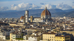 Italy. Beautiful views of Florence, Cathedral Santa Maria del Fiore. Stock Images