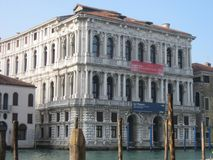 Italy beauty one of canal streets in Venice, Italia.  Royalty Free Stock Image