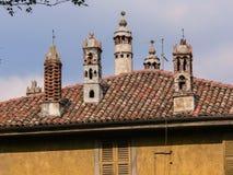 Italy. Bergamo Alta. Buildings Stock Images