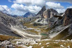 Italy Berge. Sextner Dolomiten in Italien Berge, Seen Royalty Free Stock Photography