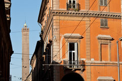 Italy Bologna tower asinelli Stock Photo