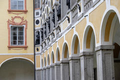 Italy, Bressanone, colonnade of the courtyard of the museum Diocesan Bishop's Palace Royalty Free Stock Images