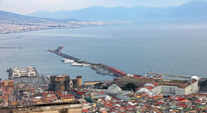 Italy. Campania. The city centre and port of Naples (Napoli). V. Italy. Campania region. The city centre and port of Naples (Napoli) in winter. View from Vomero' royalty free stock photos