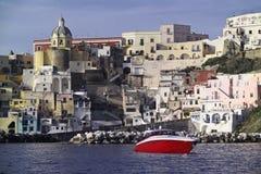 ITALY, Campania, console de Procica, Fotografia de Stock Royalty Free