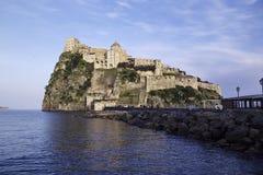 ITALY, Campania, Ischia island,. Ischia Ponte, Castel S.Angelo (aragon fortress Royalty Free Stock Photo