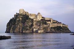 ITALY, Campania, Ischia island,. Ischia Ponte, Castel S.Angelo (aragon fortress Royalty Free Stock Photos