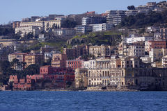 ITALY, Campania, Naples. View of the city from the sea royalty free stock image