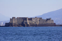 ITALY, Campania, Naples, Dell'Ovo Castel. ITALY, Campania, Naples, view of Dell'Ovo Castel from the sea stock photography